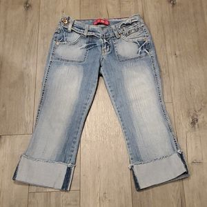 Glo Womens Cropped Jeans Size 3